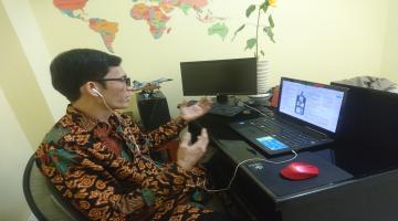 Webinar oleh Kepala Sekolah SMK Pariwisata Budi Agung